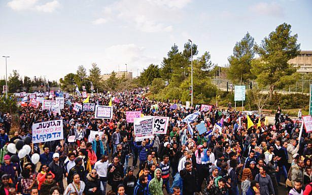 Israeli Ethiopians protest racism. Image: benny voodoo