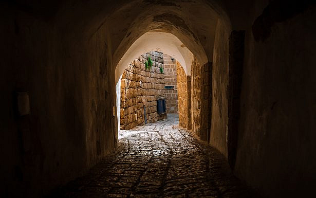 stone street in the old city of Israel 2